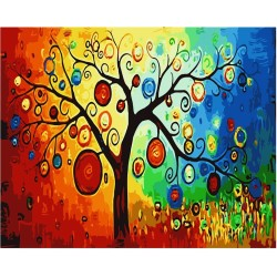 abstract tree square diamond embroidery kits for living room decor GZ373