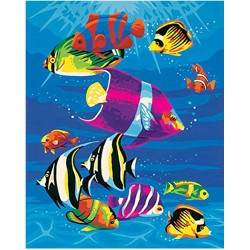 GZ381 fish square diy diamond painting for home decor