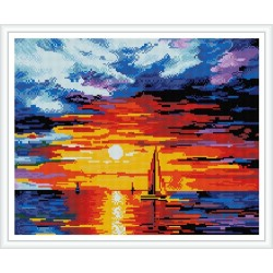 GZ393 sunset diy crystal diamond painting for wholesale