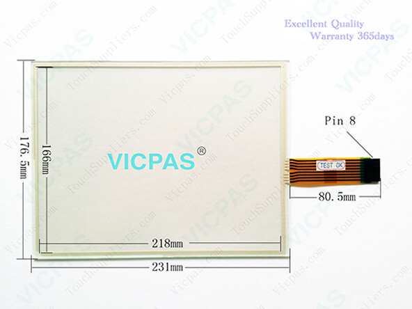 2711P-T10C10D6 touch screen glass