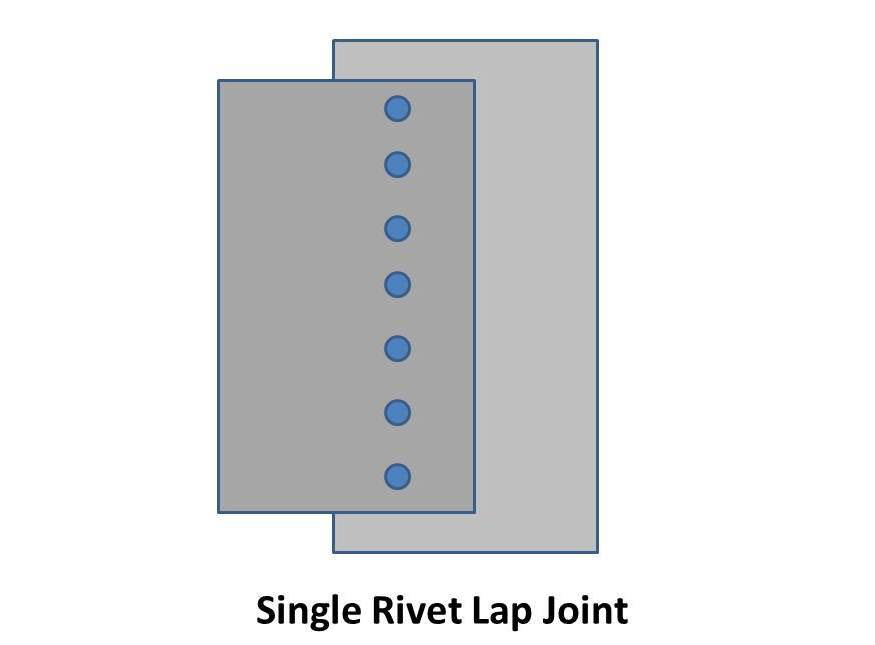sheet rivet lap jiont