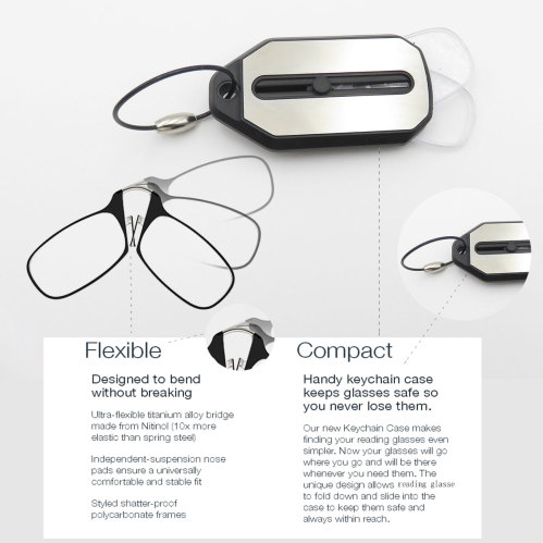 d3d1652110 Wholesale reading glasses without arms Folding reading glasses Mini Clic  Reading glasses