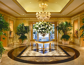 Lobby Design with Marble Flooring