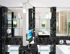 Crystal Agate Black Bathroom Custome Design