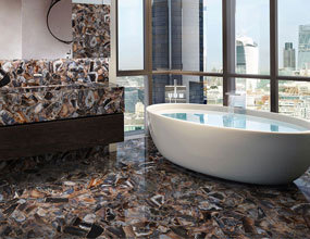 Natural Agate Bathroom Design