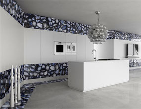 Crystal agate black Design luxury kitchen