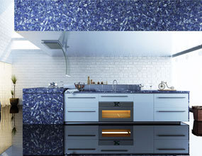 Design luxury Jasper Sodalite Blue kitchen