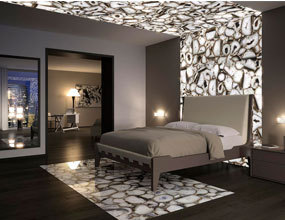 Crystal White Agate bedroom Design project