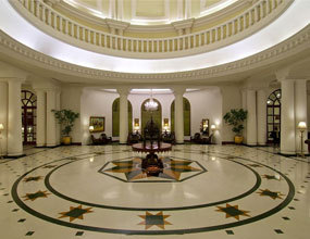 hotel Design marble Medallion Pattern for lobby