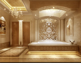 bathroom-with-luxury-interior waterjet marble