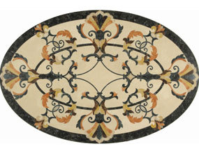 Provence Oval Marble Medallion