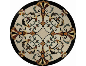Provence Round Marble Inlay