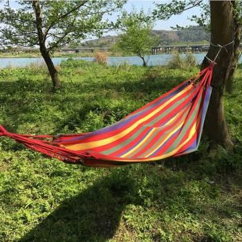 50% cotton 50%polyester colorful outdoor garden yard hammocks