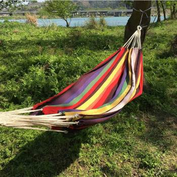 Outdoor camping garden cotton tree hammock swings seat custom