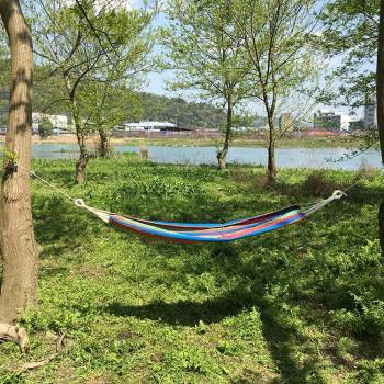 Outdoor portable adult hammock strap hanging chair swing