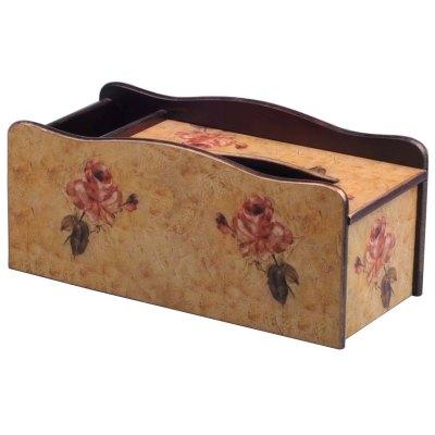 Flower Wooden Tissue Box