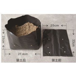 Black plastic plant  Nursery poly bags ,grafting plants bag pot plastic bag,non woven natural Bag Fabric ECO BAG