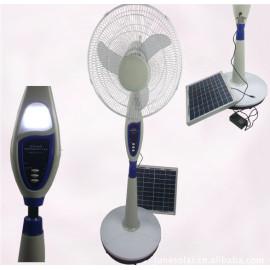 solar rechargeable fan,  solar fan,AC/DC operated fan, stand solar fan, remote control  fan,rechargeable fan
