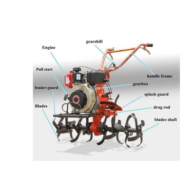 Multifunction Diesel Mini Rotary Tiller  and  cultivator