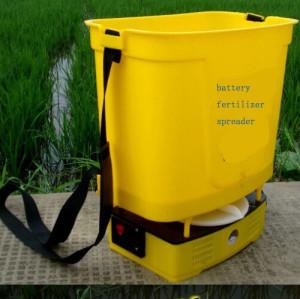 Electric Fertilizer Spreader   rechargeable   battery  Fertilizer Spreader dynamo electric Fertilizer Spreader  Portable fertilizer spreader