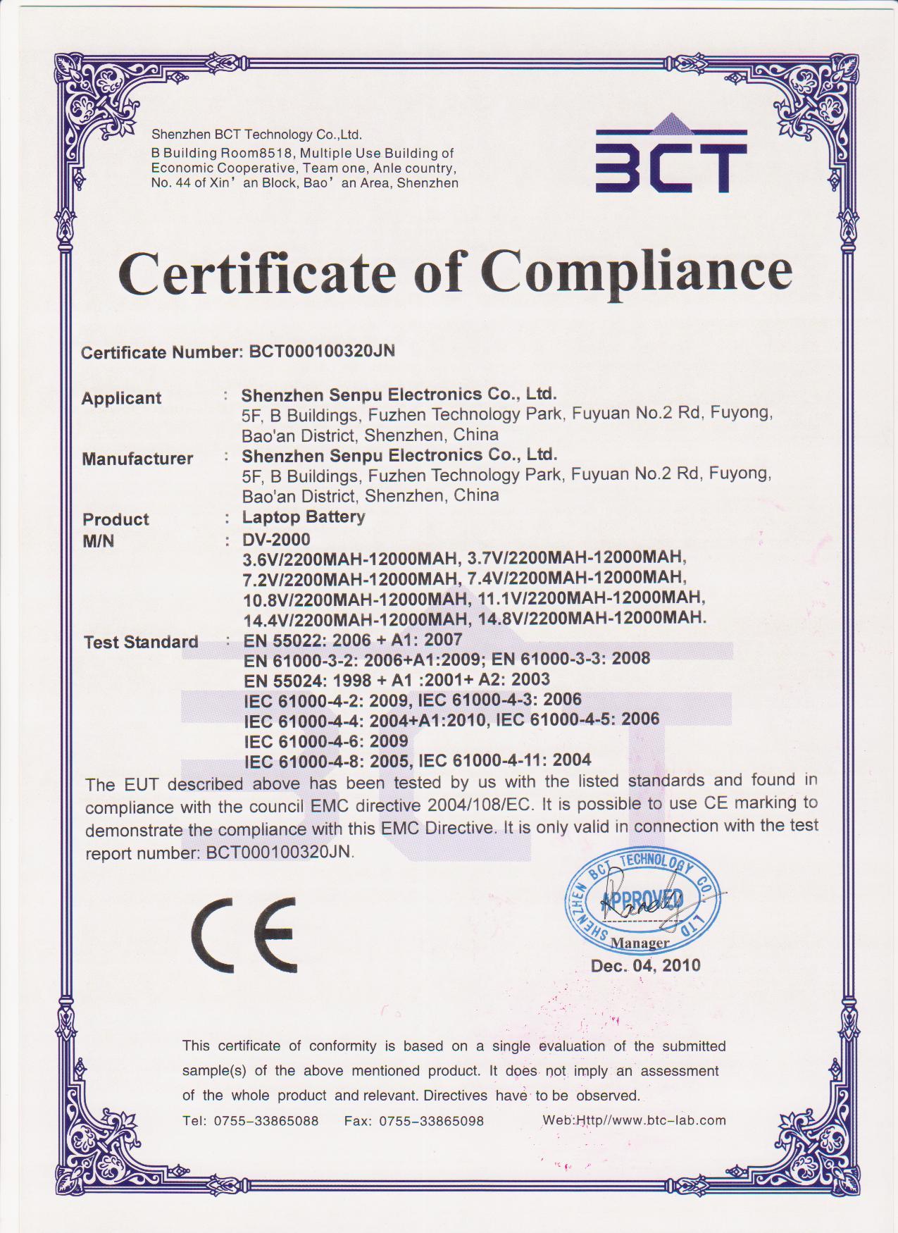 certificate ce license