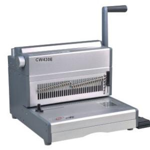 Electric twin wire binding machine