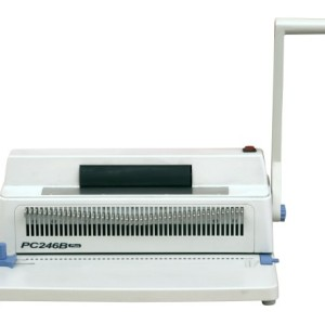 Letter size coil binding machine
