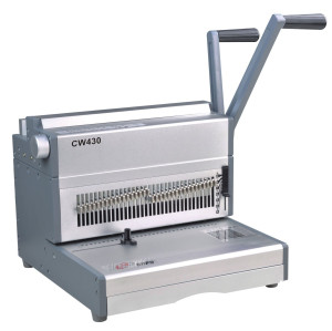 Legal size 430MM manual double loop wire binding machine