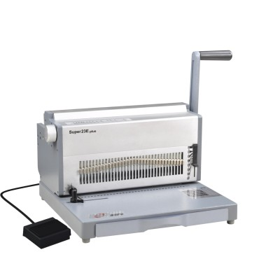 CE approved electric 3:1 aluminium wire binding machine 300mm with thumb cutting