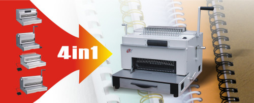 Electrical multifunction binding machine(4 in 1) with CE approved