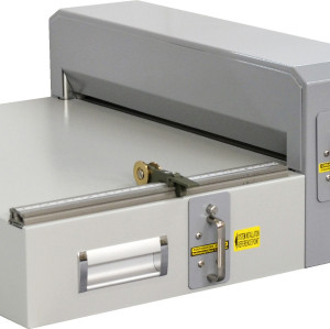 Electrical scoring and perforating machine with changable dies