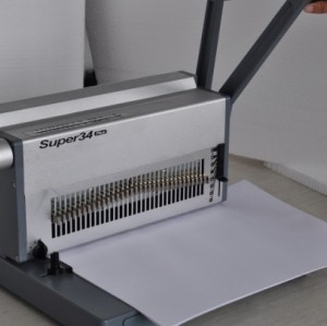 A3 manual double wire binding machine 17 inch