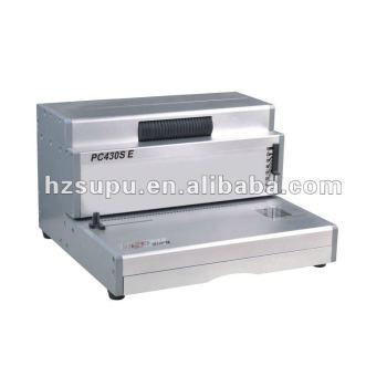 الكهربائية الثقيلة واجب pc430se آلة تجليد حلزوني