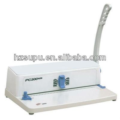 manual de plástico de la bobina de la máquina de perforación