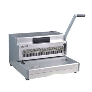 Small light spiral book punching and binding machine