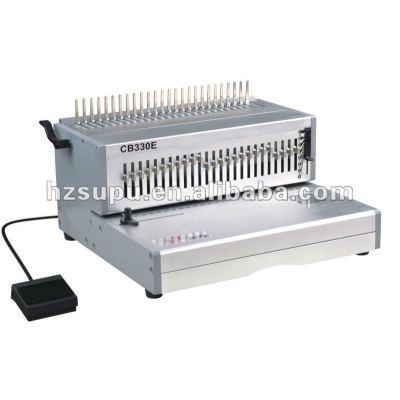 heavy duty peine de plástico vinculante máquina para la oficina y la fábrica