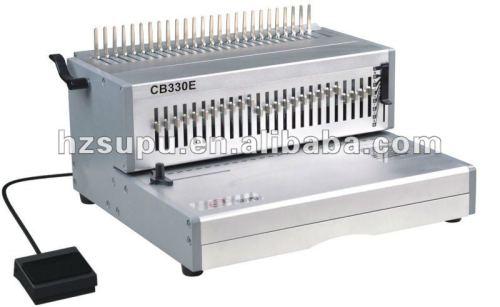 الثقيلة البلاستيك آلة تجليد comb المكاتب والمصانع