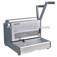 الثقيلة مكتب cw360t آلة تجليد أسلاك مزدوجة