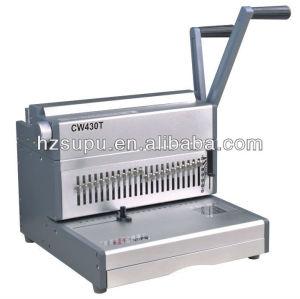 الثقيلة مكتب cw430t آلة سلك ملزمة