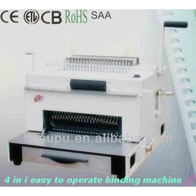 4 1 en fácil de operar la máquina de encuadernación