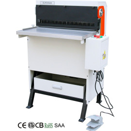 papel hole máquina de perfuração super600