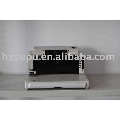 Automatic plastic &steel spirasl coil binding machine SUPER46A
