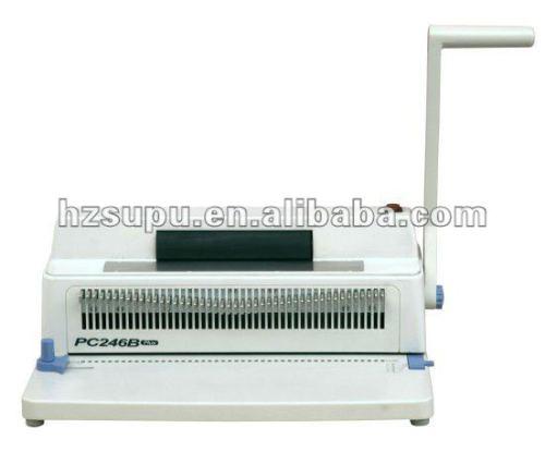 آلة تجليد حلزوني pc246b زائد
