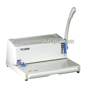 Plastic ring binding machine