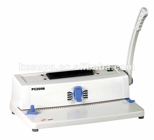 آلة تجليد حلزوني a4 pc200b زائد