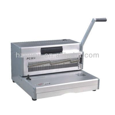 heavy duty manual de bobina de la máquina de encuadernación pc300 para la oficina y la fábrica