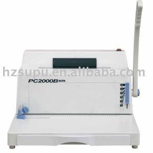 آلة تجليد حلزوني pc2000b زائد