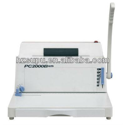 Disengageable punching pins coil binding machine