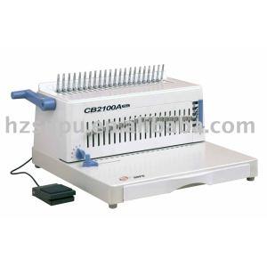 Simi-automatic plastic comb binding machine CB2100A plus