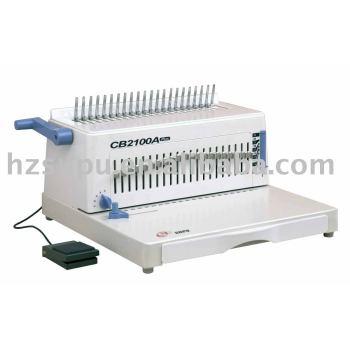 سيمي-- التلقائي cb2100a زائد البلاستيك آلة تجليد comb